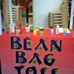Bean bag toss! You have to hit at least 3 characters