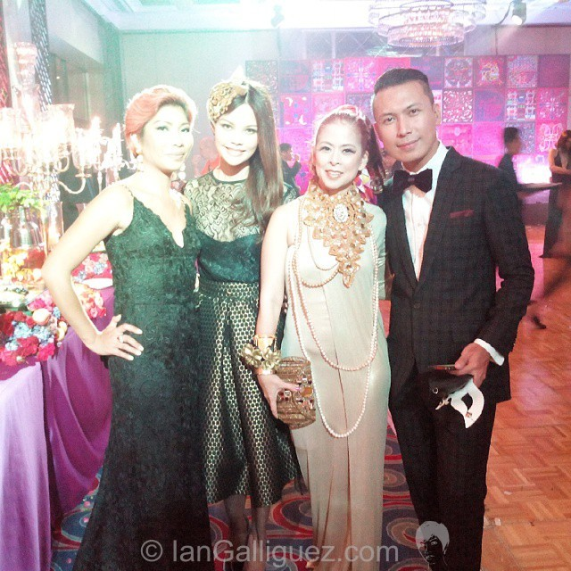Ian Galliguez, Digzy Umali, TEssa Prieto VAldes and Rex Atienza at the 2014 Hermes Silk ball