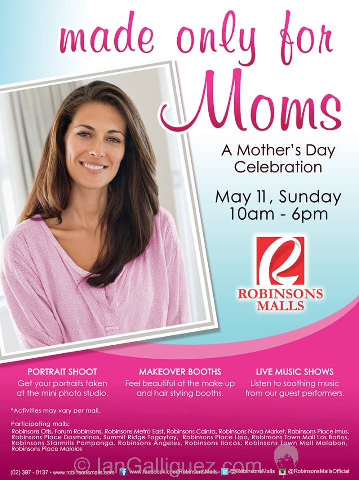 Made only for Moms – Mother's Day Celebration at Robinsons Malls