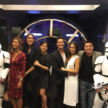 The Victoria Court team with Spacewars' Stormtroopers