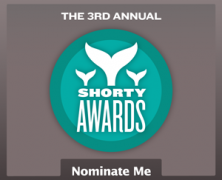 I'm nominated for a Shorty!