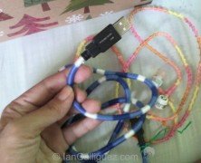 Crafty time: Wrapped cords