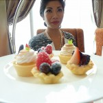 A plate of fruit tarts